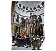 Interior Church of the Holy Sepulchre The Rotunda Poster