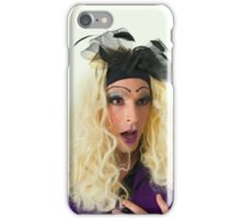 excited Drag Queen with blond wig iPhone Case/Skin