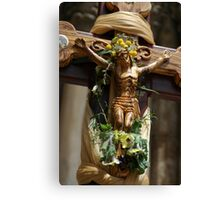 Wooden Christ  Canvas Print