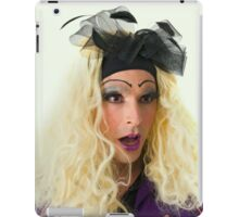 excited Drag Queen with blond wig iPad Case/Skin
