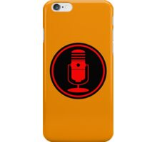 Vintage Red Microphone iPhone Case/Skin