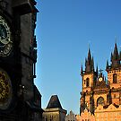Prague Astronomical Clock by arthit somsakul