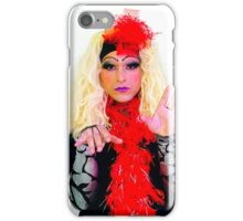 Drag Queen with blond wig iPhone Case/Skin