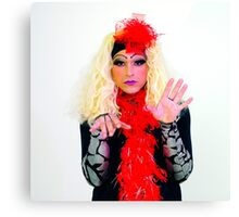 Drag Queen with blond wig Canvas Print