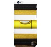 Spirit Level (or bubble level) on white  iPhone Case/Skin