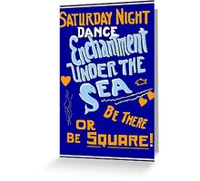 BTTF DANCE FLYER Greeting Card