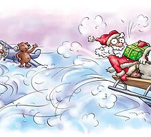 Sata Claus Rushing to You by Konstantinas