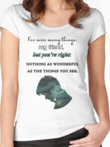 I've Seen Many Things | Doctor Who Women's Fitted Scoop T-Shirt