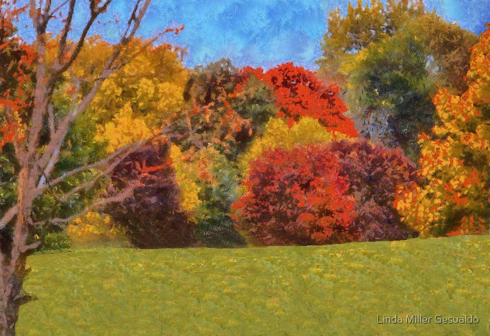 Autumns Painting   by Linda Miller Gesualdo