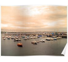 Port Mary Harbour, Isle of Man Poster