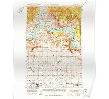 USGS Topo Map Washington State WA Wilbur 244693 1950 62500 Poster