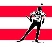 Austria Biathlon  Photographic Print