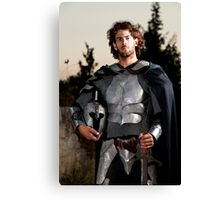 A knight in shining armour  Canvas Print