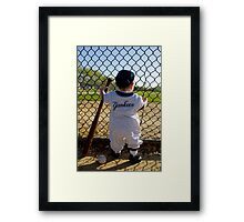 Little Slugger Framed Print