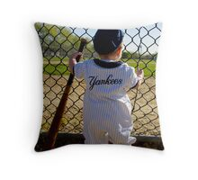 Little Slugger Throw Pillow