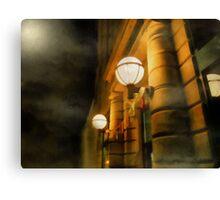 Foggy Night on Main Street Canvas Print