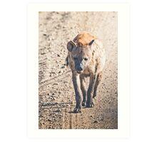 Hyena on the Road Art Print