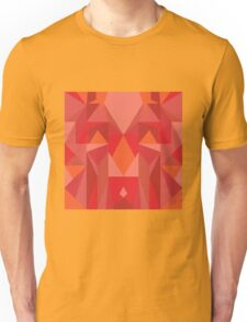 Red Tribal Poly Design Unisex T-Shirt