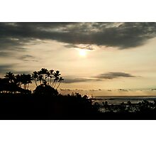 Hawaii Sun Over Pauoa Bay Photographic Print