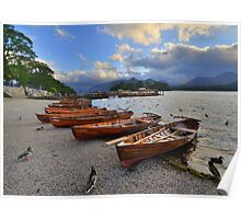 The Lake District: Evening at the Keswick Landing Stages Poster