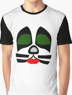Peter Criss from KISS band, Catman makeup Graphic T-Shirt