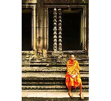 Monk at Angkor Photographic Print