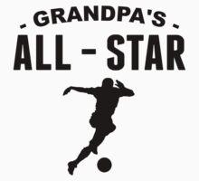 Grandpa's All-Star Soccer One Piece - Short Sleeve