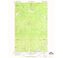USGS Topo Map Washington State WA Aladdin Mtn 239766 1967 24000 Photographic Print