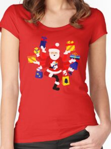 Dancing Shiva Claus Women's Fitted Scoop T-Shirt