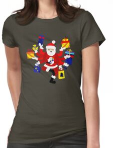 Dancing Shiva Claus Womens Fitted T-Shirt