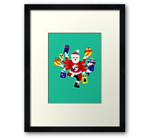 Dancing Shiva Claus Framed Print