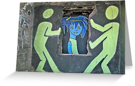 "Ghost Town Blue Girl: ""She puts her makeup on like graffiti on the walls of the heartland….""  by Cheri Sundra"