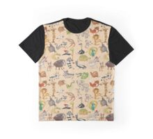 ABC Animals Graphic T-Shirt