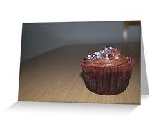 Homemade Chocolate cupcake Greeting Card