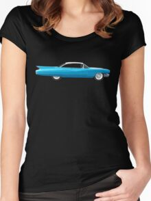 1960 Cadillac Coupe De Ville Women's Fitted Scoop T-Shirt