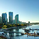 Autumn's Light on Coal Harbour 3 by Tracy Friesen