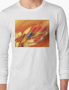 Vibrant Sensation Vivid Abstract V Long Sleeve T-Shirt