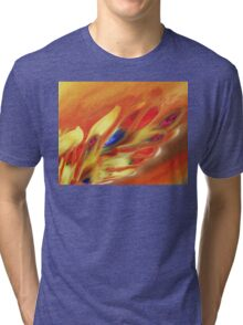Vibrant Sensation Vivid Abstract V Tri-blend T-Shirt