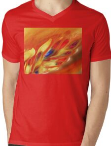 Vibrant Sensation Vivid Abstract V Mens V-Neck T-Shirt