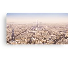 Winter panorama Paris  Canvas Print