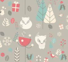 Baby fox pattern 03 Sticker