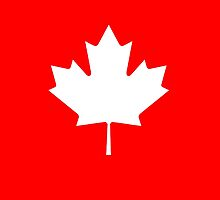 """CANADA, CANADIAN, MAPLE LEAF, WHITE, Pure & Simple, Canadian Flag, National Flag of Canada, """"A Mari Usque Ad Mare"""" by TOM HILL - Designer"""