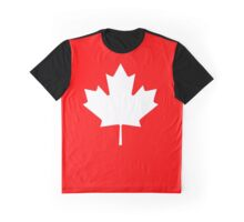 """CANADA, CANADIAN, MAPLE LEAF, WHITE, Pure & Simple, Canadian Flag, National Flag of Canada, """"A Mari Usque Ad Mare"""" Graphic T-Shirt"""
