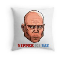 YIPPEE KI YAY- BRUCE WILLIS DIE HARD- (Specially Detailed) Throw Pillow