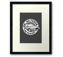 Back to the Future Mr Fusion Time Machines Framed Print