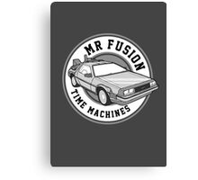 Back to the Future Mr Fusion Time Machines Canvas Print