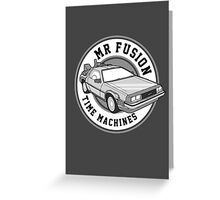 Back to the Future Mr Fusion Time Machines Greeting Card