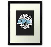 Back to the Future 'Libyan Van Rentals' Logo Framed Print