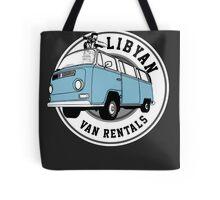 Back to the Future 'Libyan Van Rentals' Logo Tote Bag