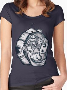Mangled Faces Women's Fitted Scoop T-Shirt